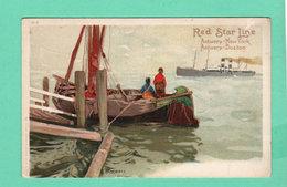 CPA PK +/- 1900 RED STAR LINE Antwerp New York / Antwerp Boston H-1 - Steamers