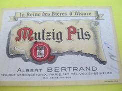 Carte Commerciale/Mutzig Pils/ La Reine Des Biéres D'Alsace /Albert BERTRAND/ Rue Vercingetorix/ /Vers 1930-1950   CAC27 - Food