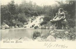 AK Berlin Kreuzberg Wasserfall Im Victoriapark Litho ~1900 #307 - Kreuzberg