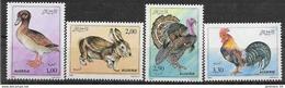 1990 ALGERIE 986-89**  Basse-cour, Lapin, Coq - Algerije (1962-...)