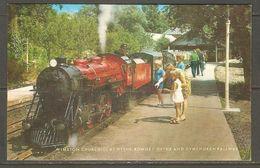 Carte P ( Chemins De Fer ) - Gares - Avec Trains