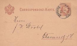 Autriche Entier Postal Privé Teplitz 1879 - Interi Postali