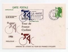 LXXIIIème Tour De France Cycliste 1986 Prologue Boulogne-Billancourt 4-7-1986 Oblitération 1er Jour Arrivée étape - Cycling