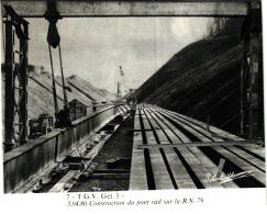 T.G.V.GET 3 CONSTRUCTION DU PONT RAILSUR LA RN79 LE 03/04/80 REF 53281 - Ouvrages D'Art