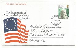 USA FDC 1976 BICENTENAIRE INDEPENDENCE AMERICAINE - BENJAMIN FRANKLIN - Indipendenza Stati Uniti