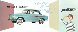 Dépliant Publicitaire 1960 SIMCA GRAND LARGE P60 - SIMCA MONACO P60 - Voitures