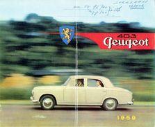 Brochure Publicitaire 1959 PEUGEOT 403 - BERLINE - CABRIOLET - FAMILIALE - Voitures