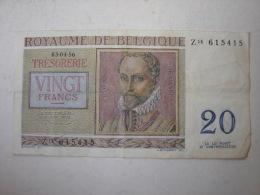 Billet. 6. Billet De 20 Francs Type Regier De 1956 - [ 2] 1831-... : Koninkrijk België