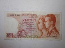 Billet. 5. Billet De 50 Francs De 1966 - [ 2] 1831-... : Royaume De Belgique