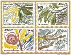 Monaco **LUXE 1987 Préoblitéré 94 à 97 Série 4v - Monaco