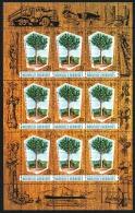 NOUV.HEBRIDES 1969 - Yv. 280 Feuille De 9 Ex **   Cote= 8,50 EUR - Industrie Du Bois Légende Française  ..Réf.POL23261 - Ungebraucht