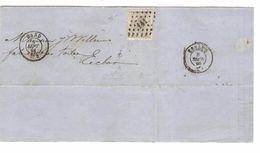 TP 17 S/LAC Facture Filature De Lin&Etoupe Gand LOS 141 C.Gand 5/9/1868 V.Eecloo C.d'arrivée PR4812 - Postmarks - Points