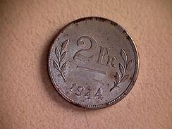 Belgique 1944 Pièce 2 Francs - 1934-1945: Leopold III