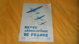 REVUE AERONAUTIQUE DE FRANCE 25e ANNEE. N°1 JANVIER 1935. - Libros, Revistas, Cómics