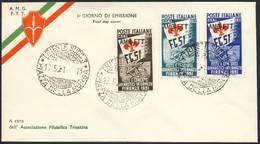 FDC-Trieste A- Giochi Ginnici - 6. 1946-.. Repubblica