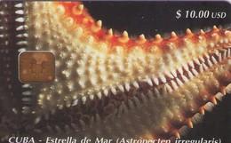 TARJETA TELEFONICA DE CUBA (ESTRELLA DE MAR) (375) - Cuba