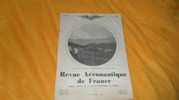 REVUE AERONAUTIQUE DE FRANCE 22e ANNEE. N°10 OCTOBRE 1932. - Libros, Revistas, Cómics