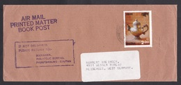 Bhutan: Airmail Cover To Germany, 1983, 1 Stamp, Silver Tea Pot (traces Of Use) - Bhutan