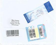 Israel 2016 Tel Mond Meter Franking Label Maor (digital) Barcoded Registered Cover - Frankeervignetten (Frama)