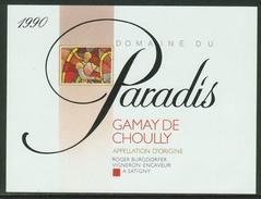 Rare // Etiquette // Gamay De Choully, Domaine Du Paradis, Roger Burgdorfer, Satigny,Genève,Suisse - Etiquettes
