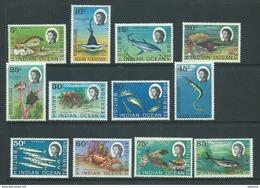 BIOT 1968 Fish Definitives Short Set Of 12 To 85c Galati MNH - British Indian Ocean Territory (BIOT)