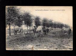 Cpa...la Culture En Beauce...le Semoir , La Herse , Le Rouleau ..attelages...animée..... - Cultivation
