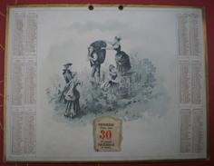 CALENDRIER SCOLAIRE 1898 -  Scène De Vendange. - Calendars