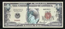 BILLET FANTAISIE COMMEMORATIF . 1000 000  DOLLARS . LIBERTY . - United States Of America