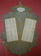 CALENDRIER Offert Par Le Journal Demoiselles Année 1877 - - Calendari