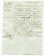"""Beau Mandat 1816 """"Trente Huit Francs / Commune De Dampierre-en-Montagne"""" Côte-d'Or - Bourgogne - France"""
