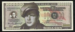 BILLET FANTAISIE COMMEMORATIF . 1000 000  DOLLARS . MARLON BRANDO . - United States Of America