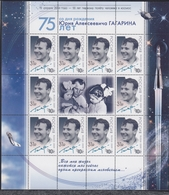 Russia 12.04.2016 SC # L 2084, Mi Klbg # 2301 55th Anniversary Of The First Human To Journey Into Outer Space MNH OG - Blocs & Hojas