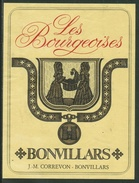Rare // Etiquette // Bonvillars, Les Bourgeoises, J.-M. Correvon, Bonvillars, Vaud,Suisse - Etiquettes