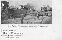 CPA - BISCHWILLER (67) - Catastrophe Ferroviaire Du 4 Janv. 1900 Avec L'incendie Des Wagons De Spiritueux - Bischwiller