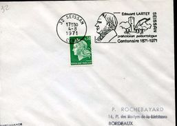 27983 France, Circuled Cover With Special Postmark Seissan 1971, Showing The Paleontologist Edouard Lartet,prehistory - Prehistory