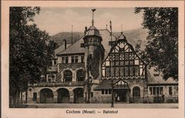! Alte Ansichtskarte Bahnhof Cochem, Mosel - Bahnhöfe Ohne Züge