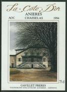 Rare // Etiquette //Chasselas Anières, Gavillet Frères, Anières,Genève,Vaud - Etiquettes