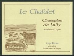 Rare // Etiquette // Chasselas De Lully, Guy Ramu, Essertines-Dardagny, Genève,Suisse - Etiquettes