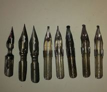 LOT OF 8 VINTAGE Calligraphy NIBS FROM USSR RUSSIA, Pen - Pens