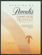 Rare // Etiquette // Gamay -Rosé,Domaine Du Paradis, Roger Burgdorfer, Satigny,Vaud,Suisse - Etiquettes