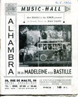 N°57157 -programme Music Hall -Alhambra- - Programmes