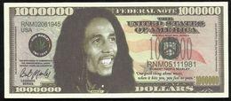 BILLET FANTAISIE COMMEMORATIF . 1000 000  DOLLARS . BOB MARLEY . - United States Of America
