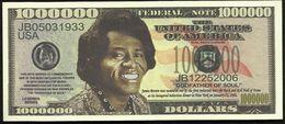 BILLET FANTAISIE COMMEMORATIF . 1000 000  DOLLARS . JAMES BROWN . - United States Of America