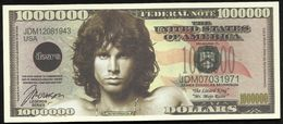 BILLET FANTAISIE COMMEMORATIF . 1000 000  DOLLARS . JAMES DOUGLAS MORRISON . - United States Of America