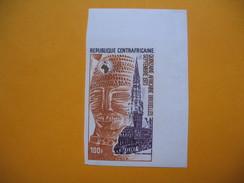 Timbre Non Dentelé  N° PA 117  Quinzaine Africaine De Bruxelles   1973 - Central African Republic