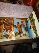 142466 COFANETTO SOUVENIR 5 CARTOLINE  AVENTURA AMAZONICA AMAZON JUNGLE ADVENTURE INDIOS - Cartoline