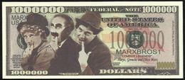 BILLET FANTAISIE COMMEMORATIF . 1000 000  DOLLARS . LES MARX BROTHERS . - United States Of America