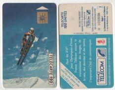 TELECARTE 120 UNITES FRANCE TELECOM PARTENAIRE XVIe JEUX OLYMPIQUES D'HIVER ALBERTVILLE 1992 - 08 91 TIRAGE 4 000 000 EX - Jeux Olympiques