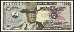 BILLET FANTAISIE COMMEMORATIF . 1000 000  DOLLARS . JOHN WAYNE . - United States Of America