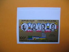 Timbre Non Dentelé  N° PA 131  10 ème Anniversaire De L'Union Douanière Et économique D'Afrique Centrale  1974 - Central African Republic